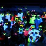 yoga journey neon yoga party